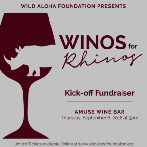 Winos for Rhinos - September 6, 2018